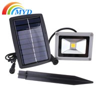 Wholesale 45 LEDs Solar Flood Light Street Floodlights V W Solar Panel Outdoor Energy Saving Lighting
