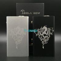 Black metal box - Authentic Tesla Metal W Box Mod E Cigarette Variable Wattage Mechanical Mod Battery Mods Beat Sigelei w Plus Cloupor T6 Mod