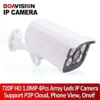 Wholesale Mini Camera P IR Bullet H CMOS IP Camera mm Lens Camera Night Vision P2P onvif MP HD Network support Android ios view