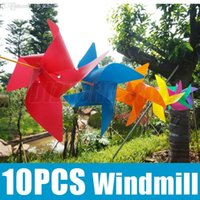 plastic windmill toy - x Colorful Windmills Plastic Pinwheel Toy Party Bag Fillers Wedding Kids Party Prom Supplies Classic Bar DIY Toys