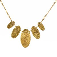 big patterns - 2016 New Foreign Trade ancient gold green oval round pattern Explosion Models big European and American Fashion Necklace Factory Direct zy