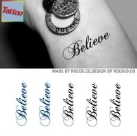 believe painting - Temporary tattoos Waterproof tattoo stickers body art Painting for party event decoration letter believe