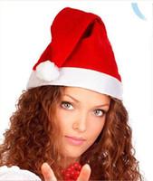santa ornament - 2014 Christmas Ornaments Ordinary Christmas hats Santa hats Chiristmas cap for Chiristmas party Props