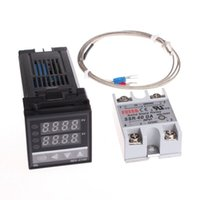 Wholesale Digital PID Temperature Controller Thermostat REX C100 Max A SSR Relay K Thermocouple Probe High Quality