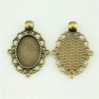 Wholesale 100pcs mm colors Antique Silver Antique Bronze Color Oval Shape Cameo Cabochon Base Setting DIY Jewelry