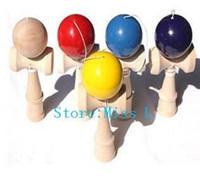 Wholesale DHL Large Size CM Kendama Ball Japanese Traditional Wood Game Toy Education Gift kendamas christmas gift