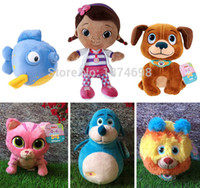 animal vets - Original Doc McStuffins Toys Pet Vet Set Cute Stuffy Chilly Findo Whispers Squeakers Squibbles Stuffed Animals Baby Toy cm