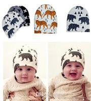winter ear cap - Newborn winter hats beanies hats caps Children s Caps Hats Top Hats baby cap boy hat grils hat kids caps Hat baby Cotton cartoon baby warm