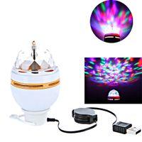 usb rgb - Mini Design W LED Portable DJ KTV dancing hall family parties RGB Stage Light Auto Rotating Bulb Control with USB Interface