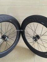 Wholesale 88mm carbon wheel c clincher wheelset for road race bike with novatec hub titanium skewers alloy nipples