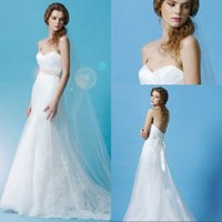 beaded western belts - Western Style Sweetheart Mermaid Wedding Dress Chapel Train white Tulle Appliques Lace Bridal Wedding Gowns With Beaded Belt