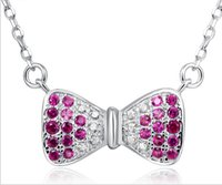 Wholesale Cubic Zriconia Pendant Necklace Guaranteed Solid Sterling Silver Pendant Necklace Pave Setting Zircons YH4241