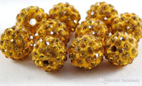 Wholesale 10mm rows Crystal Shamballa Beads Mixed Color Micro Pave CZ Disco Ball Crystal Shamballa Bead Bracelet Necklace Beads jewelry KLF