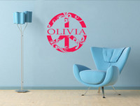 abstract flower wallpaper - Peace Sign Flowers decoration Custom NAME wall art decals home decor quote living room decorative wallpaper murals
