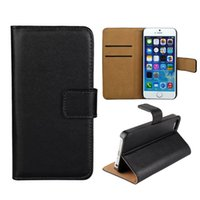 genuine leather wallet - For iphone S inch Real Genuine Leather Case Wallet Credit Card Holder Stand Flip Cover For iphone5 S