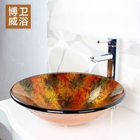 bathroom countertop cabinets - Toughened glass basin bathroom basin stage basin glass basin art stage basin bathroom cabinet