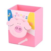 best books sales - Best Sale Cartoon Pink Pig Memo Clip Wood Desk Pen Pencil Organiser Cup Holder