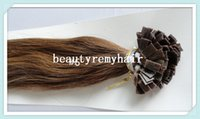 Cheap Beautyremyhair 100% Peruvian Indian Brazilian Human Virgin Remy Hair Flat-Tip Hair Extension Pre-bonded hair Extension