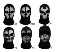 call of duty - Call of duty balaclava face mask full face mask ghost skull mask CS Game mask cycling motorcycle helmet sporting mask