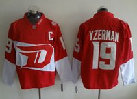 Wholesale New Hockey Jerseys Red Wings Yzerman Stadium Series Jersey Red Color size Mix Order Stitched