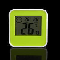 Wholesale Digital Indoor Thermometer Hygrometer temperature Tester humidity Moisture Meter LCD Display DC205 in retail box