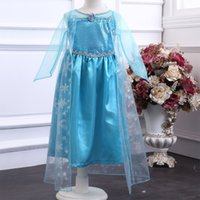 Cheap Frozen Elsa Princess Dress Best Cosplay Kids Girls Dress