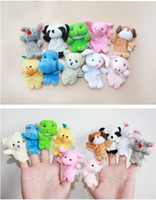 Wholesale Baby Plush Toys Finger Puppets parent child interactive games kinds of animals