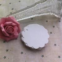 Wholesale 6CM Flower shape paper blank hang tags crafts postcards wedding label tag