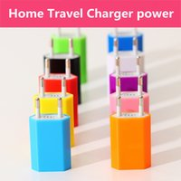 Wholesale Colorful EU US Plug USB Wall Charger AC Power Charger Adapter for iphone S Samsung Galaxy S3 S4 S5