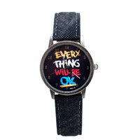 denim fabric - TG616 Fashion Denim Leather Watch Women Quartz Wrist Watches Fabric Imitation Sports Electronic Watch Japan Movement