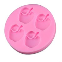 apple shaped cupcakes - New Arrival Apple Shape D Silicone Cake Mold Fondant Cake Tools For Cupcake D256