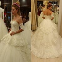 band empire - 2016 Wedding Dresses with Arm Bands New Arrival Sweetheart Beaded Appliques A Line Bridal Dresses Cheap Wedding Gowns with Pearls