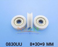 Wholesale 8 POM bearing pulley sliding roller pulley Nylon pulley v grooved pulley wheel