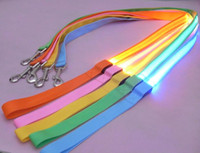 Wholesale 100PCS HHA235 nylon weave cm Fashion Glow LED Flashing Light Dog Pet Leash Tether dog leashes
