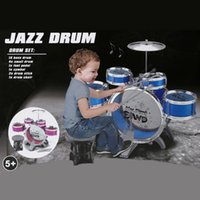 Wholesale Kids Educational Toy Jazz Drum Kids Early Education Toy Percussion Instrument Musical Toy Good Packing Christmas gift