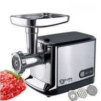 automatic vegetable slicer - household meat grinder electric meat slicer cutter stainless steel automatic sausage filler vegetable mincer chopper machineF