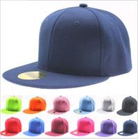 Wholesale New Arrival DIY hip hop hat blank Baseball Caps Snapbacks Snap Back Cap Pure color plate board flat European style Men Women Hats colors