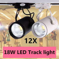 Wholesale 12pcs COB W lm AC85 V Downlight Led Track light Track aluminum Ceiling Rail Track lighting Spot Rail Super Bright