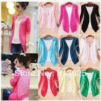 lace cardigan - ON SALE Women Lace Sweet Candy Color Crochet Knit Blouse Sweater Cardigan