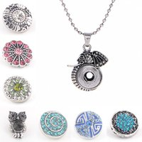 america elephant - Latest fashion design elegant artistical elephant style with crystal Europe and America pendant necklace fit mm snap buttons
