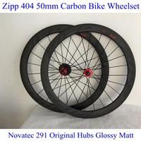 carbon bicycle wheel set - ZI P Carbon Bike Wheel Set C Full Carbon Fibre K Road Bicycle Wheels Carbon mm Rims With Novatec Hubs Gloaay Matt Road Wheels