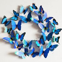 Wholesale Creative Vivid Butterfly Style Popular Decal Wall Stickers Home Decor Room Decorations D K5BO