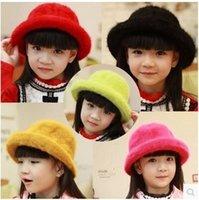 rabbit fur hat - 2014 Autumn Winter New Arrival Fashionable Children s Hat Baby s Rabbit Fur Cap Keep Warm Princess Fur Hat