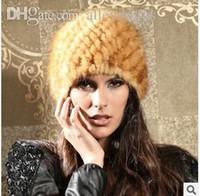 army girlfriend - 2016 Fashion European style Topshop Women mink fur knitted hat Beanie luxurious gift for Ladies Girlfriend