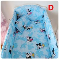 Wholesale Easy Unpick Wash Crib Bumpers With Filler And Sheet Cotton Made Cot Bed Set Size Can Made By Customized Colors Optional