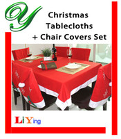 Wholesale Tablecloths Chair Cover set Christmas decoration red Table cloth square flannel cm dining table covers Banquet Holiday xmas ornament