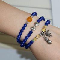 Cheap Multilayer Bracelets Best silver with blue bracelet