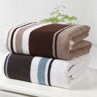 Wholesale Hot Sales Microfiber stripe Plush Thicken Soft Quick Drying Bath Towels Micro Plush Ultra Soft Beach Sheets cm cm