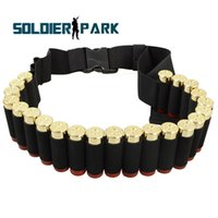 ammo pouch lot - 5 Hunting Accessories Airsoft Tactical Military Shotgun Ammo Pouch Round Gauge Shotgun Shell Belt Nylon Belt Black order lt no