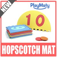 Wholesale Hopscotch game mat number puzzle baby mat Hopscotch split joint eva play mat for baby number pattern play game mat number